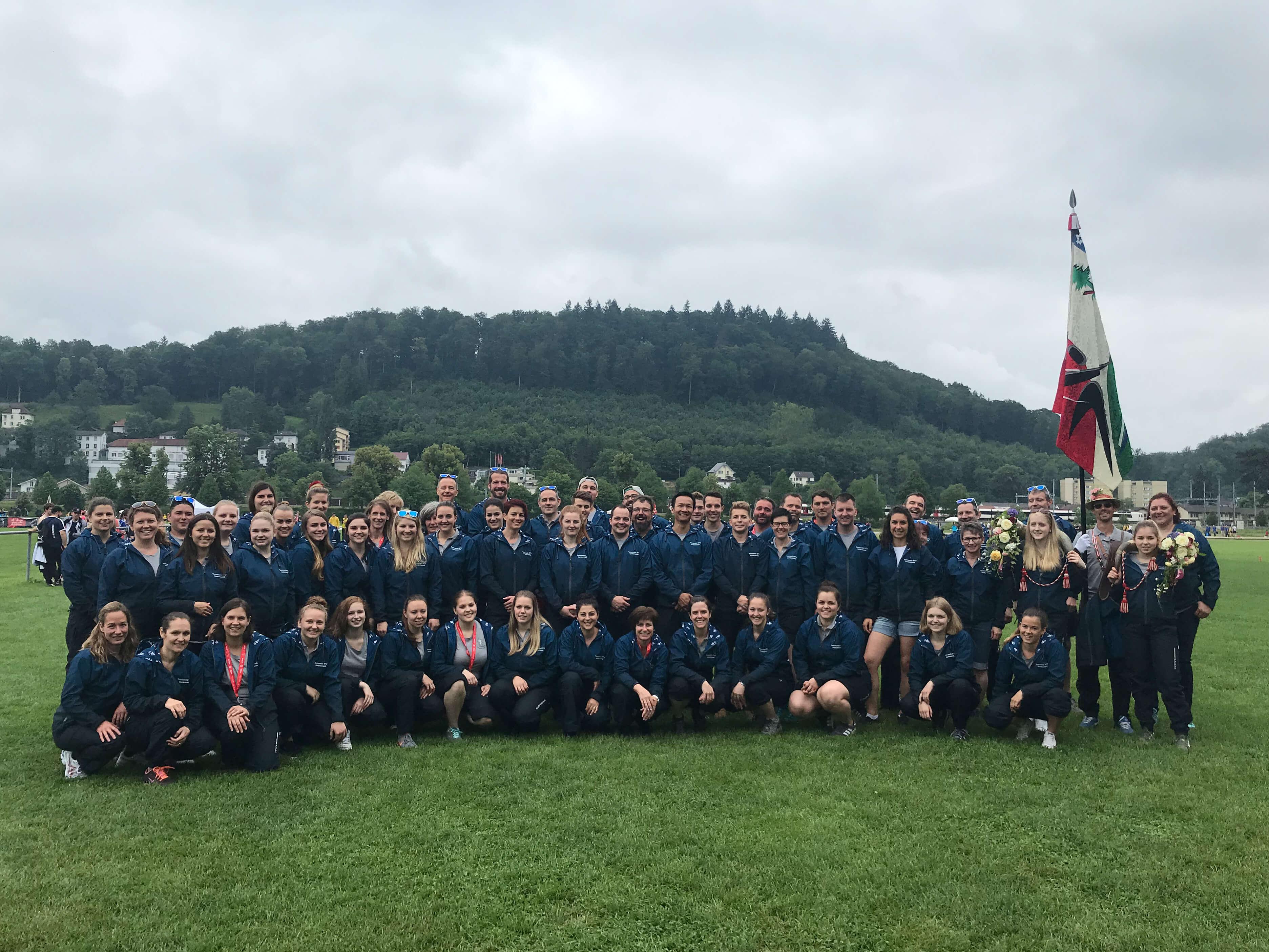 Aktivriege am Eidg. Turnfest in Aarau